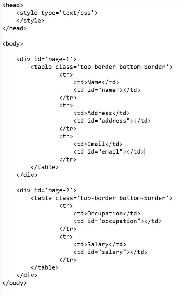 PDF Template Image