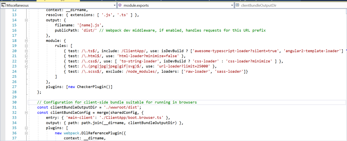 Implementing SASS in Angular Core 2 Visual Studio Template